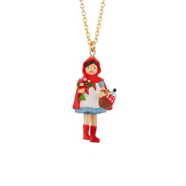LITTLE RED RIDING HOOD AND HER HAMPER LONG NECKLACE