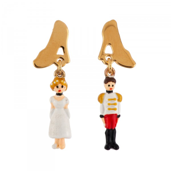 MINIATURES OF CINDERELLA AND THE PRINCE CHARMING EARRINGS