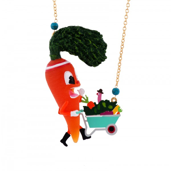 PANIC-STRICKENED CARROT LONG NECKLACE