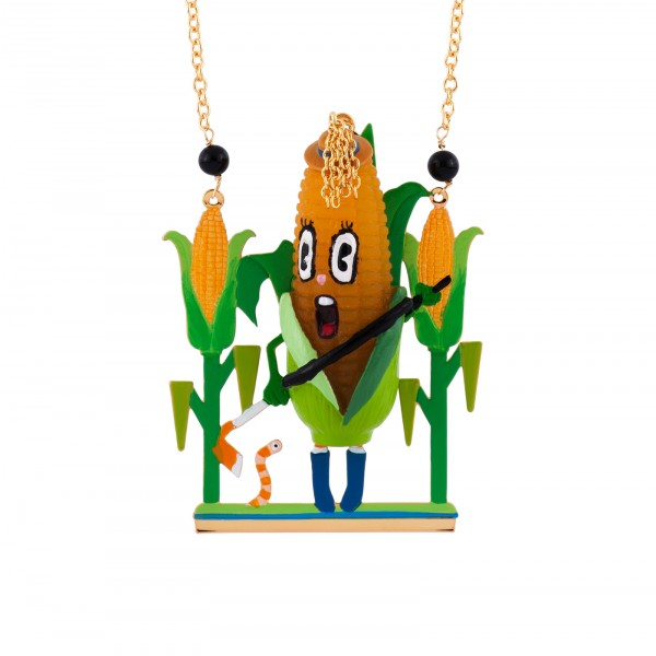 SCANDALIZED CORN IN ITS FIELD LONG NECKLACE