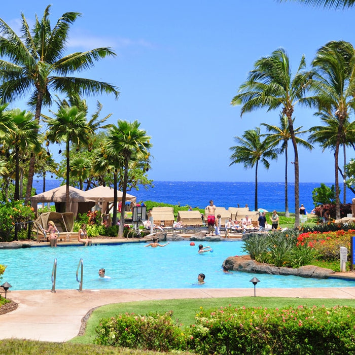 Call Royal Taxi (808) 874-6900 for your Kahului Airport to Kaanapali, Kapalua, Napili, Lahaina, Wailea, Kula or even to Travaasa Hana destinations. (Kaanapali Beach Hotel Pool)