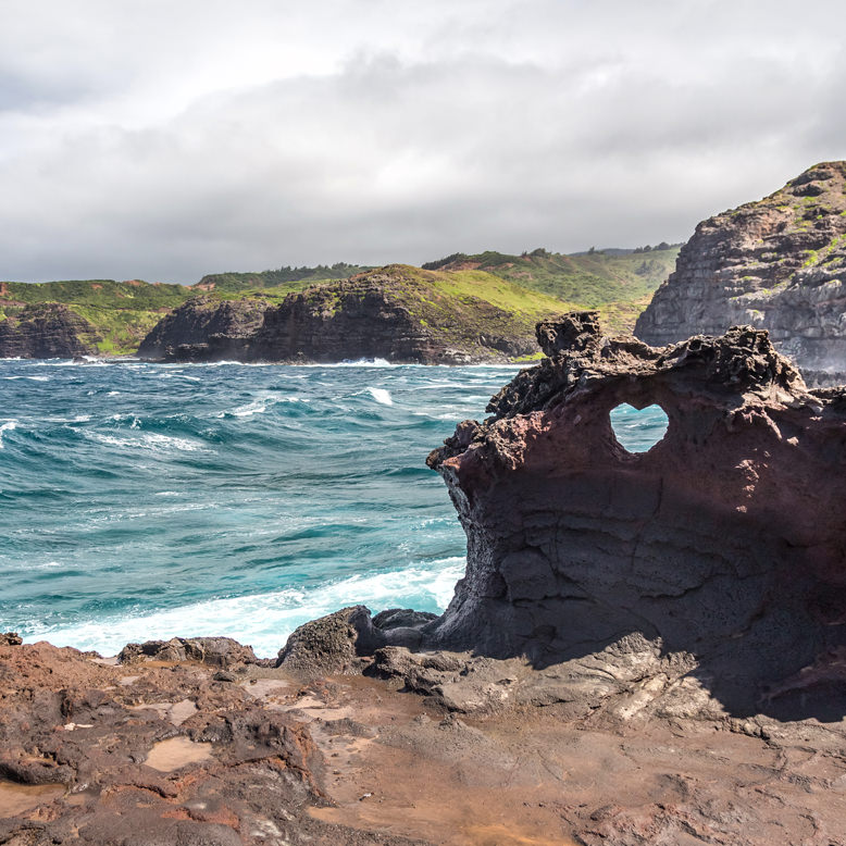 Heart Shaped Rock on West Maui Tour