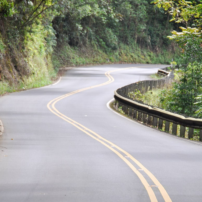 Winding hana highway