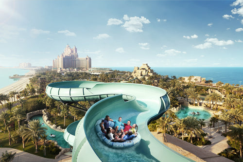 Dubaimain Will Provide Transfers from Dubai or Sharjah Hotel or Residence. Take a tour to Aquaventure Waterpark for an action-packed day out amid adventurous rides, exhilarating slides and Master Blast Water Roller coasters that propel you up and down on streams of water, prior to rolling you down along tunnels and finally freeing you into the river. Occupying an area of about 42 acres of land on Palm Jumeirah – one of the key man-made attractions in Dubai, Aquaventure is the Middle East's largest waterpark
