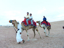Camel Riding Dubai, Enjoy Camel riding in the middle of Dubai desert with our Licensed Safari Guide, We recommend basic knowledge of horse riding but our safari guide could help you with basic camel riding techniques. You will have an hour or two until you get exhausted.  Pickup: 8:00 AM or 10:00 AM