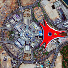 Located on the Yas Island in Abu Dhabi, Ferrari World is the world's largest indoor theme park that is particularly remarkable for its sprawling 200,000 square meters, 50 meters high roof, boasting the biggest ever Ferrari logo, besides more than 20 exhilarating rides and numerous shopping and dining choices to cater to all palates.  It also offers a perfect base for your little ones to explore the ultimate in fun and entertainment, with its exclusive highlights, such as the Junior Grand Prix and Junior GT.