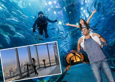 Burj Khalifa 124th Floor with Dubai Aquarium