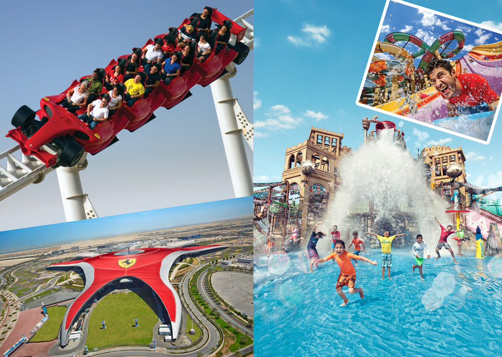 Image result for ferrari world Park with Yas Water World