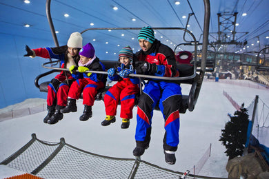 Ski Dubai – an exclusive skiing facility within Mall of the Emirates. The largest of its kind in the Middle East, Ski Dubai – occupying an area of about 22,500 square feet - enables you to experience the ultimate in winter pursuits, let it be skiing, snowboarding or tobogganing. Thanks to its mountain-themed setting, along with an expansive snow park and five slopes of different sizes that cater to winter sport enthusiasts of all tastes and levels. From jacket and snowboard to helmet, gloves, and boots - ev