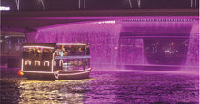 Dubai Water Canal Cruise, you'll float through the heart of Dubai, passing by Ras Al Khor Sanctuary, Sheikh Zayed Road Waterfall Bridge, Burj Khalifa, W Hotel, St Regis, and JW Marriott Marquis