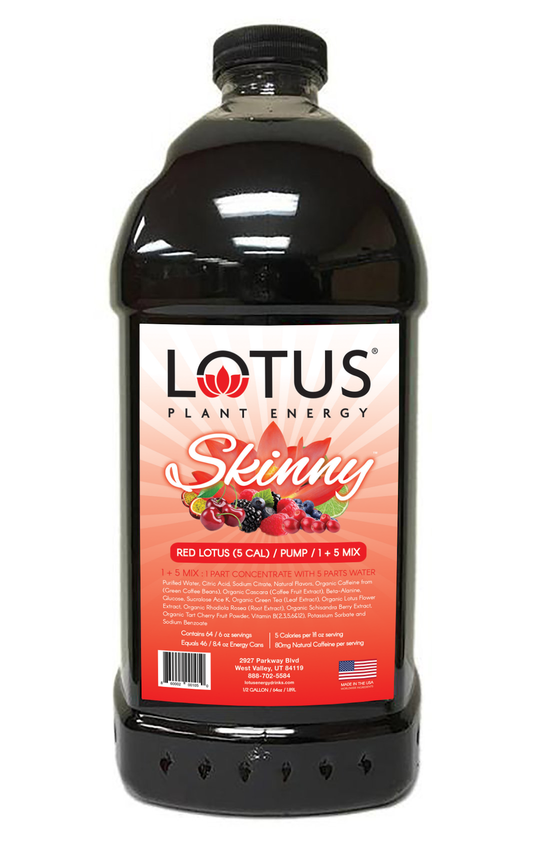 Skinny Red Lotus Plant Energy Concentrate drink