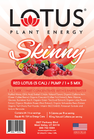 Skinny Red Lotus Plant Energy Concentrate label