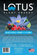 Blue Lotus Plant Energy label