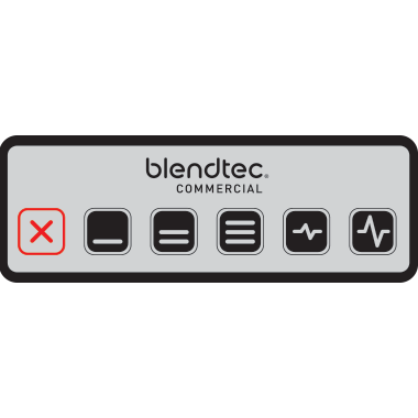 Blendtec Chef 600 commercial blender one-touch kitchen control keypad