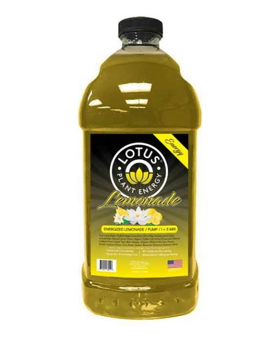 Lotus Energy Lemonade Concentrate 1/2 Gallon Pump & Serve