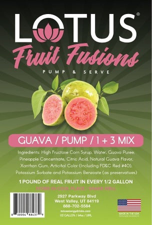Lotus Fruit Fusions Guava drink flavored concentrate