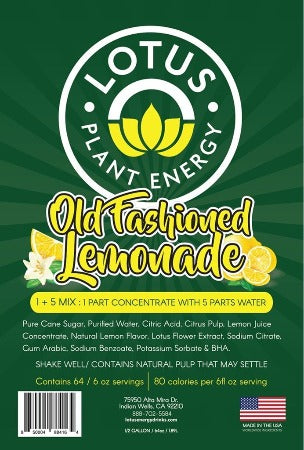 Lotus Lemonade Concentrate (No Caffeine)