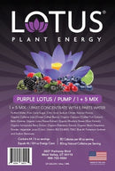 Purple Lotus Plant Energy Concentrate label