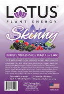 Skinny Purple Lotus Plant Energy Concentrate label