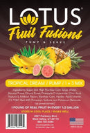 Tropical Dream Lotus Fruit Fusions Concentrate label
