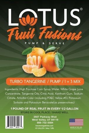 Turbo Tangerine Lotus Fruit Fusions Flavored Concentrate