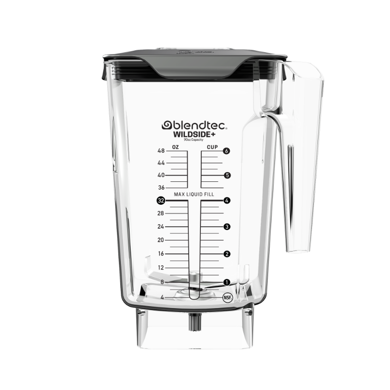 Blendtec Wildside Jar with fifth side for better blending vortex.