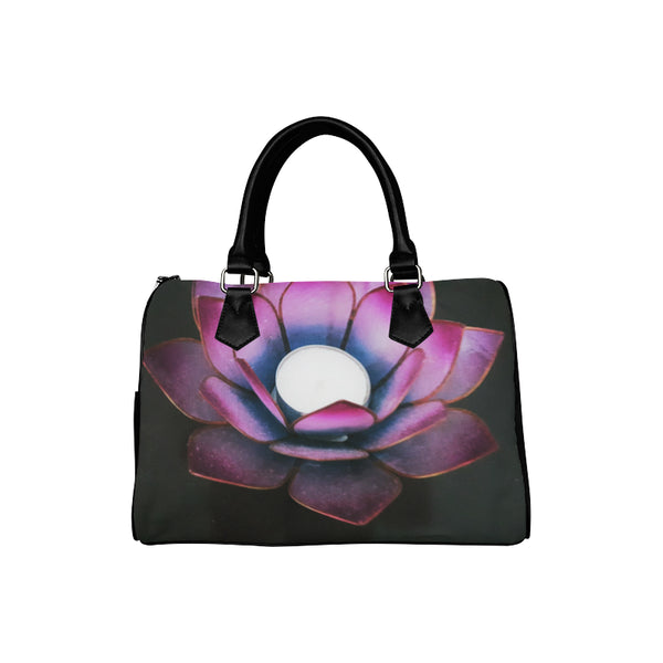 Lotus Boston Handbag