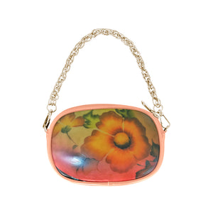 Blush Flower Chain Purse