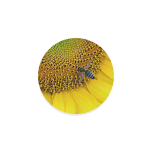 Bee on Sunflower Round Coaster - Set of 4