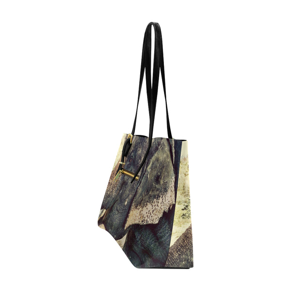 Elephant  Leather Tote Bag