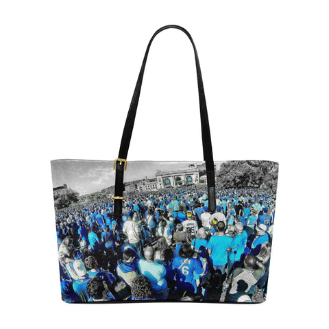 Royals World Series Celebration 2015 Leather Tote Bag