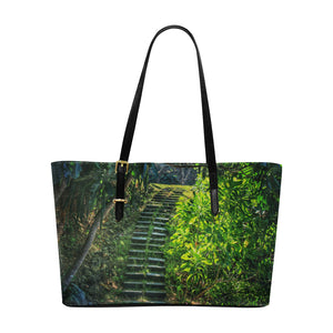 Hidden Path  Leather Tote Bag