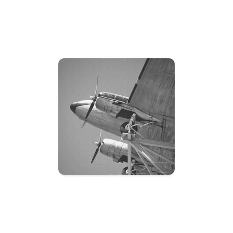 Airplane Square Coaster - Set of 4