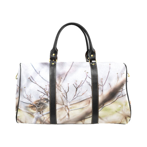 Bird on Branch Waterproof Travel Bag