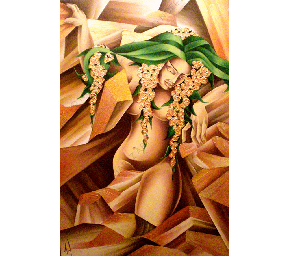 Earth Noel Suarez art deco painting