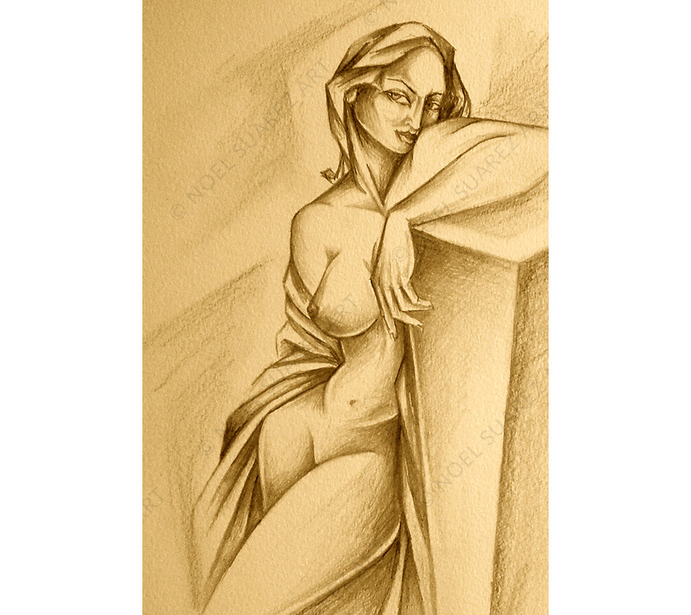 Esmeralda Study Noel Suarez figurative art drawing
