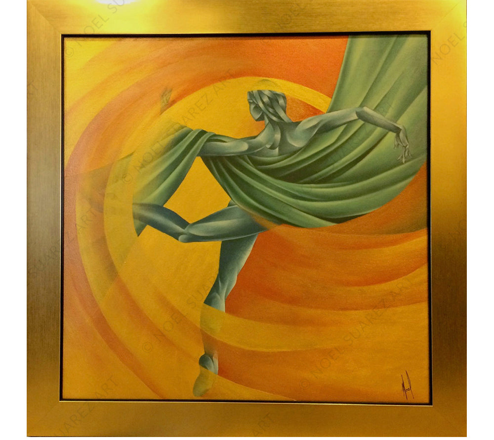 MOVIMIENTO VI Noel Suarez art deco dancer painting