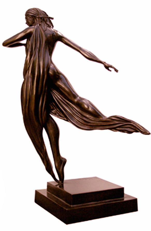 THE DANCER bronze sculpture Noel Suarez figurative art