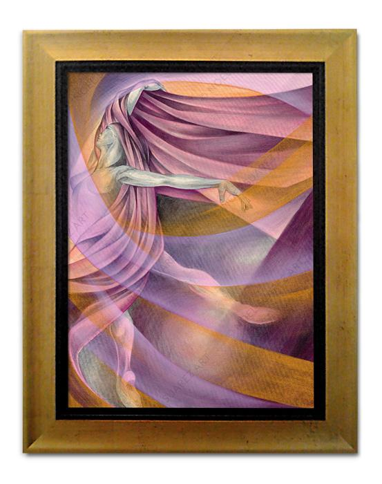 """Arabesque"" Framed Giclée on Canvas (Frame received may differ from the one pictured)"