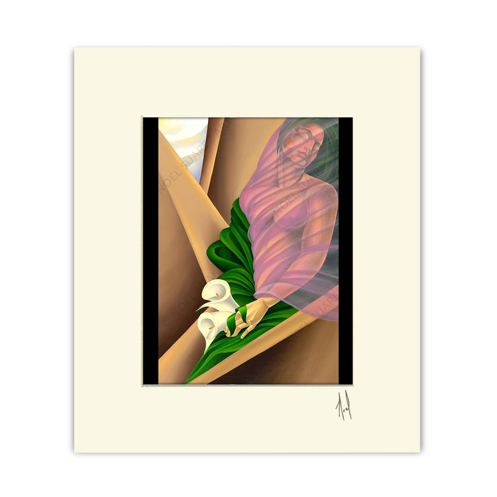 """Awaiting the Kiss"" Matted Print"