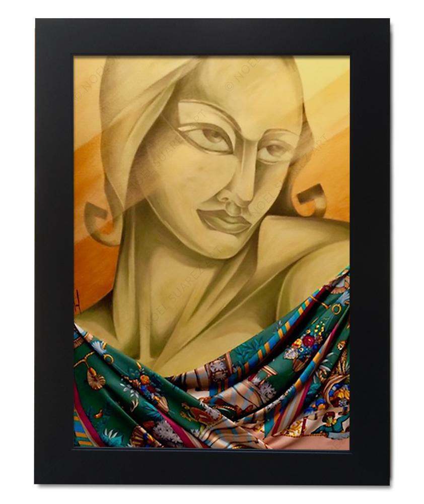 """IL Rinascimento II"" Framed Original Mixed Media Painting (Please Note: Framing options are at the choice of the Artist and may not look like what is pictured here)"