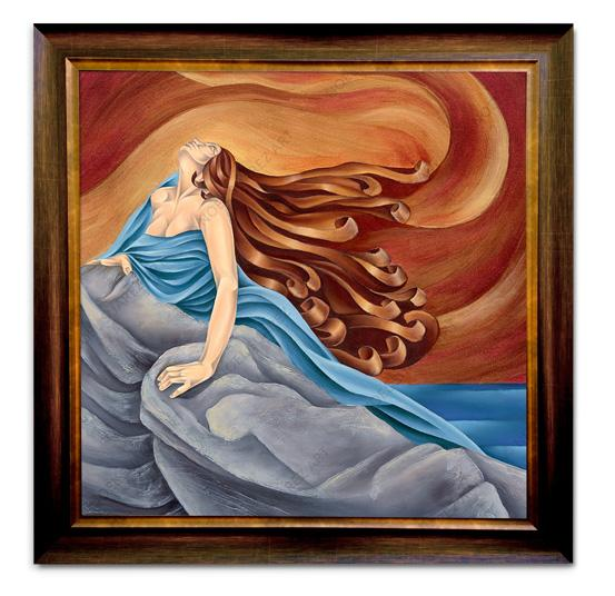 """Marea Alta"" Framed Giclée on Canvas (Frame received may differ from the one pictured)"