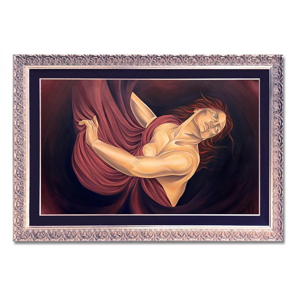 """Martirio"" Framed Original Oil Painting (Please Note: Framing options are at the choice of the Artist and may not look like what is pictured here)"