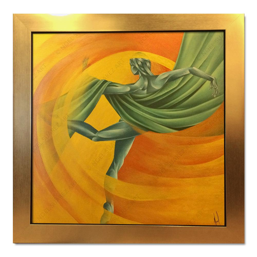 """Movimiento VI"" Framed Original Mixed Media Painting (Please Note: Framing options are at the choice of the Artist and may not look like what is pictured here)"