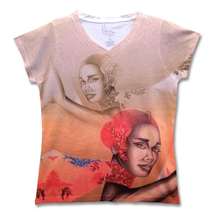 "Fine art shirt by Noel Suarez featuring a stylized version of his painting ""Automne""."
