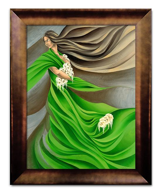 """Primavera"" Framed Giclée on Canvas (Frame received may differ from the one pictured)"
