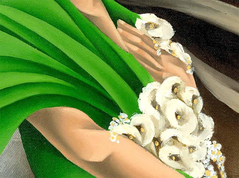 "Close-up detail of Noel Suarez's ""Primavera"""