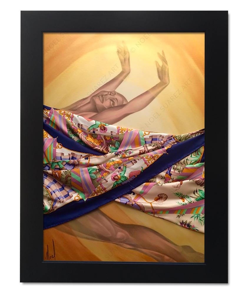 """Rara Avis II"" Framed Original Mixed Media Painting (Please Note: Framing options are at the choice of the Artist and may not look like what is pictured here)"