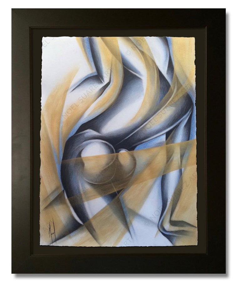 """Siluetas III"" Framed Original Painting (Please Note: Framing options are at the choice of the Artist and may not look like what is pictured here)"
