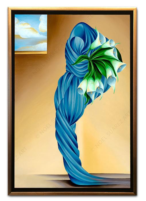 """Still Life with Calas III"" Framed Giclée on Canvas (Frame received may differ from the one pictured)"